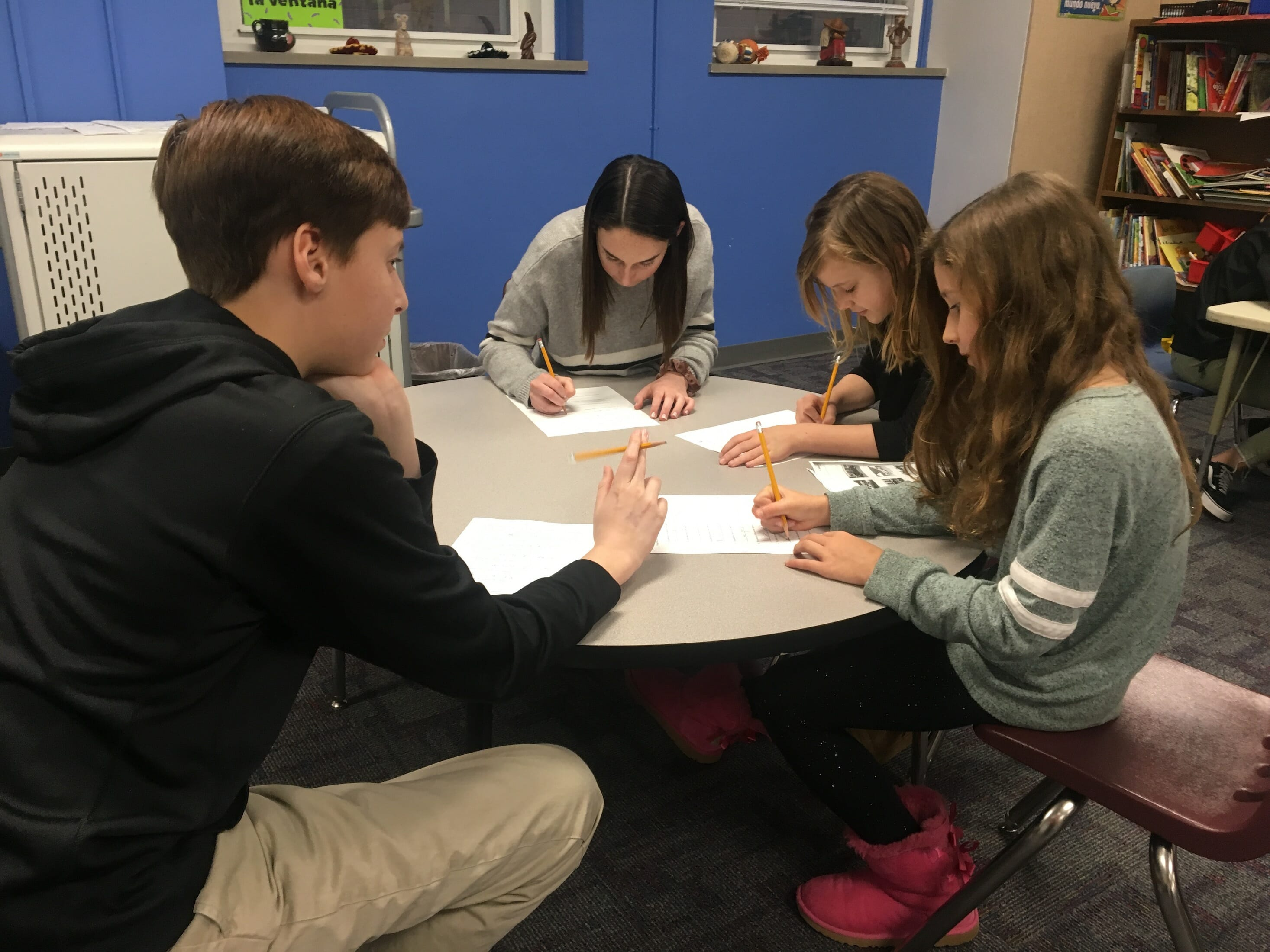 MICDS 4th and 8th grade students celebrated Valentine's Day in Spanish